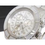 クリスチャンディオール Christian Dior 腕時計 クリスタル クロノグラフ CD114310 スイス製 クォーツ 防水 白 ホワイト シルバー【中古】【ベクトル 古着】