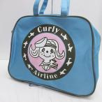 【中古】カーリーコレクション Curly Collection Curly Airline フライトバッグ パイピング ライトブルー  レディース 【ベクトル 古着】