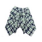 アフリカタロウ AFRICA TARO スカート ミディアム 腰巻き風 チェック柄 F 緑 紺 ※M- レディース【中古】【ベクトル 古着】