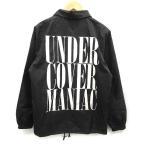 【中古】アンダーカバー UNDERCOVER 17AW コーチジャケット UC MANIAC ロゴ M 黒 ブラック /KH メンズ 【ベクトル 古着】