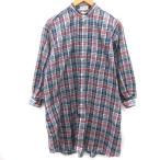 【中古】インディビジュアライズドシャツ INDIVIDUALIZED SHIRTS BEAMS BOY ブラウス シャツ チェック 長袖 紺 ネイビー 赤 レディース 【ベクトル 古着】