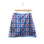 未使用品 マヌーシュ MANOUSH スカート 台形 スパンコール ブルー 青 40 /YK ■CO1【中古】【ベクトル 古着】