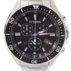 シチズン CITIZEN エコドライブ H500-S064538 動作品 ソーラー充電 クロノグラフ 腕時計 ウォッチ 日付 ストップウォッチ GN-
