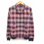 【中古】フレッドペリー FRED PERRY 美品 ハリントンジャケット ブルゾン チェック柄 赤 レッド S RRR 1019 メンズ 【ベクトル 古着】