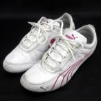 プーマ PUMA Drift Cat 4 スニーカー ランニングシューズ 304026 12 白 ピンク size 23cm 靴 170718 レディース【中古】【ベクトル 古着】