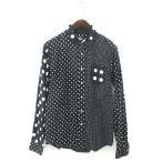 グラニフ graniph シャツ 長袖ドット コットン 黒 白 ブラック ホワイト size M 170926 メンズ【中古】【ベクトル 古着】