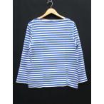 オーチバル ORCIVAL オーシバル カットソー ロンT バスクシャツ 長袖 ボーダー 青  白 サイズ4 メンズ【中古】【ベクトル 古着】
