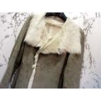 ギャルリーヴィー GALERIE VIE ムートンコート 羊革 レザー グレー 1 美品 レディース 【ベクトル 古着】【中古】