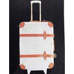 ジュエルナローズ Jewelna Rose キャリーバッグ スーツケース トランク  旅行カバン レザー 編み込み 白  レディース【中古】【ベクトル 古着】