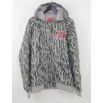 シュプリーム SUPREME ジャケット グレー 茶 緑 XL アウター 総柄 ナイロン ワッペン 2013SS Quilted Hooded Jacket メンズ【中古】【ベクトル 古着】