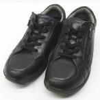 アサヒメディカルウォーク コンフォート シューズ ウォーキング 靴 黒 22.5 4E ◇MM-7301 ◇07 レディース【中古】【ベクトル 古着】