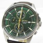 セイコー SEIKO クロノグラフ 腕時計 クォーツ 7T62-0LD0 SNAF03P1 緑文字盤 ※NJ-2287 ※02 メンズ【中古】【ベクトル 古着】