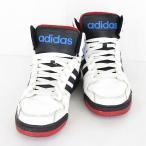 アディダス adidas スニーカー シューズ ハイカット レースアップ F38478 白 黒 10 SSAW *C945 メンズ【中古】【ベクトル 古着】
