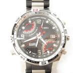 タイメックス TIMEX 腕時計 インテリジェントクウォーツ フライバッククロノ コンパス T49868 黒 シルバー *C684 メンズ【中古】【ベクトル 古着】