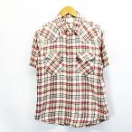 エドウィン EDWIN シャツ 半袖 スナップボタン チェッ