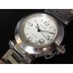 カルティエ Cartier パシャC 腕時計 自動巻き 白 ホワイト メンズ/レディース/ユニセックス 【ベクトル 古着】【中古】