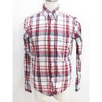 トムブラウン THOM BROWNE チェック ネルシャツ 長袖 赤 ネイビー 4 メンズ【中古】【ベクトル 古着】