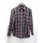 ユニクロ UNIQLO ネルシャツ フランネル 長袖 チェック 紺×緑×赤 S メンズ【中古】【ベクトル 古着】