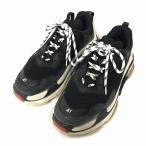 バレンシアガ BALENCIAGA 17AW Triple S Trainers トリプルエス トレーナー スニーカー 加工あり 黒 赤 EU41 イタリア製 メンズ【中古】【ベクトル 古着】