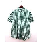 ウィゴー WEGO シャツ ボタンダウン チェック 半袖 L 緑 メンズ【中古】【ベクトル 古着】