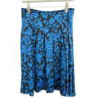 ビアッジョブルー Viaggio Blu スカート ひざ丈 総柄 フレア 2 黒 /YS14 レディース【中古】【ベクトル 古着】
