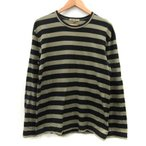 コムデギャルソン COMME des GARCONS カットソー Tシャツ ボーダー M 黒 カーキ AD2013 /DT メンズ【中古】【ベクトル 古着】
