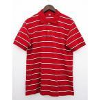 ユニクロ UNIQLO ポロシャツ カットソー ボーダー 半袖 L 赤 メンズ【中古】【ベクトル 古着】