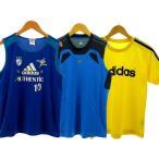 【中古】アディダス adidas Tシャツ 3枚セット 半袖1枚 タンクトップ2枚 ブルー 青 イエロー 黄色 160 キッズ 【ベクトル 古着】
