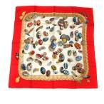 【中古】エルメス HERMES カレ90 スカーフ シルク Couvee d'Hermes エルメスの雛たち 赤 /YI15 レディース 【ベクトル 古着】