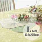 ショッピングテーブル テーブルクロス ビニール おしゃれ VEGATEX フルーツガーデン カスタード<L>132×229cm