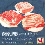国産 豚肉 薩摩黒豚 豚スライスセット 六白黒豚  冷凍品 送料無料