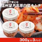 送料無料 国産 信州 望月高原 白菜キムチ 300g 3パック 無添加 カナモト食品