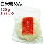 白米粉めん 120g袋 ×5パック 魚沼産こしひかり使用 グテンフリー食品 送料無料
