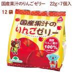 サンコー 国産果汁のりんごゼリー 22g×7個入り 6袋 送料込