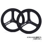 (ブラック/ブラックロゴ 451(100mm)即納可)TERN ターン Kitt design Carbon Tri -spoke Front Wheel フロントのみ 20インチ クリンチャー ※QRなし (TERN純正)