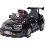 スカイライン(黒)GT-R R34 押し手なし015132 【ミズタニ】ペダルカー (足こぎ式)