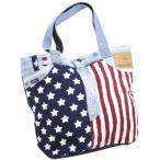 ポケット国旗トートバッグ USA FLAG 星条旗 USEDデニムジーンズ お洒落で可…