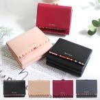 ポールスミス 財布 レディース 二つ折り財布 牛革 羊革 クロスオーバーストライプトリム  ホワイトデー お返し
