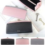ポールスミス 財布 レディース 長財布 がま口 花柄 クロスグレイン PWW805