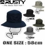 サーフハット メンズ UVカット ハット ビーチハット RUSTY ラスティー 帽子 マリンハット サーフブランド 910905