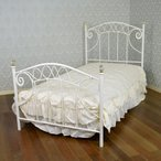プリンセス ロココ調イタリアンIRONベッド シングル フレームのみ