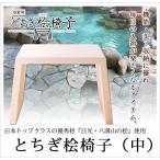 バスチェアー 浴室用とちぎ桧の風呂椅子 中型 日本製檜天然木