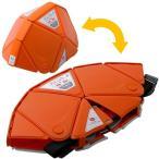 ミドリ安全 折りたたみ防災ヘルメット TSC-10 Flatmet フラットメット オレンジ 最薄3.3cm セーフティ用品