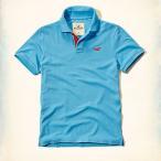 ホリスター HOLLISTER ポロシャツ メンズ 半袖 Pop Placket Polo 61679 ライトブルー