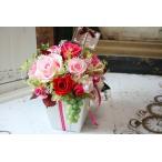 ショッピングプリザーブドフラワー プリザーブドフラワーアレンジ ギフト 「ポエム」 結婚祝い 新築祝い
