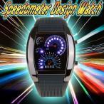 Yahoo!Relieveスピードメーター 腕時計 LED デジタルウォッチ 速度計モチーフ 時計 ブラック デジタル表示 メンズ タコメーター おしゃれ スピードメーター風 デザイン
