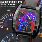 Yahoo! Yahoo!ショッピング(ヤフー ショッピング)スピードメーター ウォッチ 腕時計 スピードメーター時計 ブラック 合皮 バンド LED腕時計 デジタルウォッチ デジタル表示 LEDデジタル腕時計 タコメーター