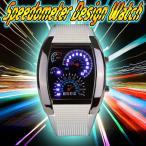 Yahoo!Relieveスピードメーター 腕時計 スピードメーター時計 ホワイト LED腕時計 デジタルウォッチ デジタル表示 LEDデジタル腕時計 メンズ メンズ用腕時計