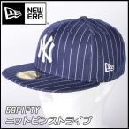 帽子 キャップ cap メンズ レディース ニューエラ NEW ERA 59FIFTY Knit Pinstripe ニューヨーク・ヤンキース ネイビーピンストライプ