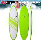 16 NSP Elements Hybrid Short Surf 6'4 Green フィン付!ショートボード